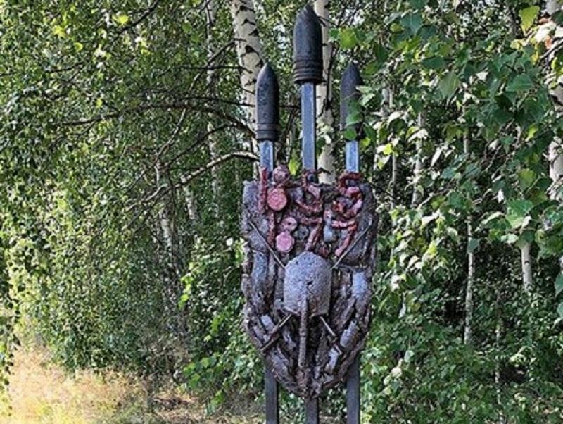 Памятник из снарядов, каски и штыков показали в Воронеже