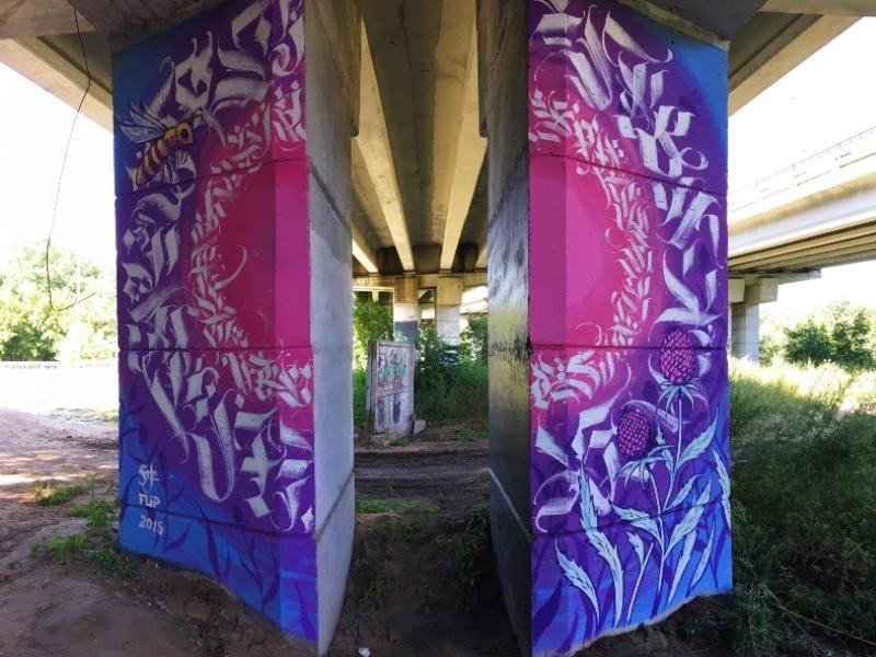 Чиновница неожиданно отреагировала на магическое граффити под Северным мостом
