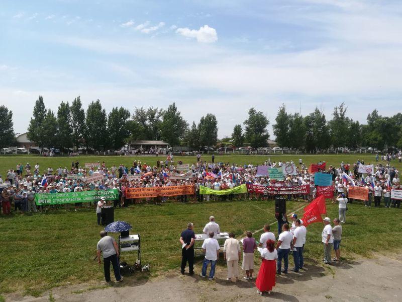 Две тысячи человек выступили против свиноцида в Воронежской области