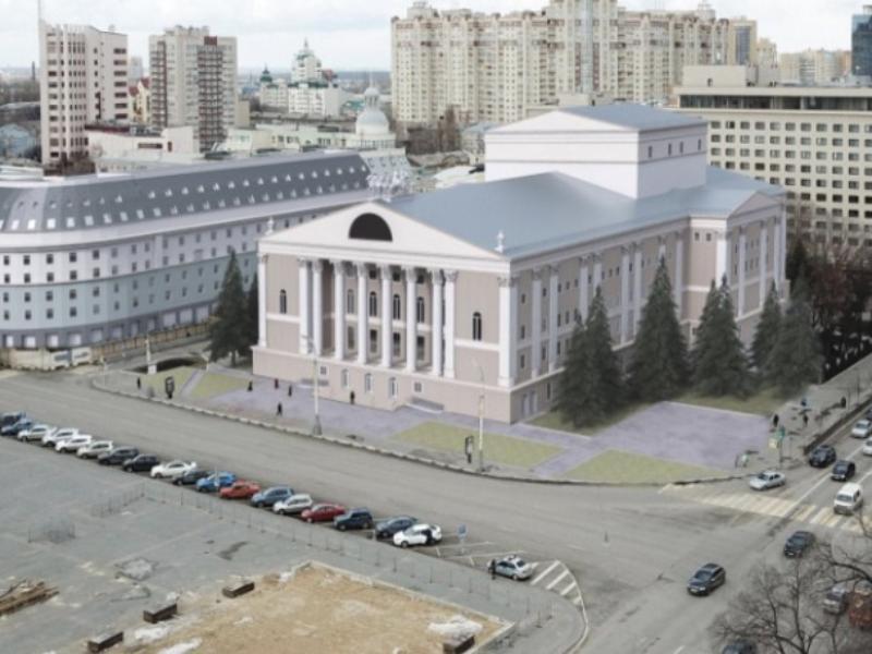 Эскиз театра оперы и балета с дополнительным этажом показали в Воронеже