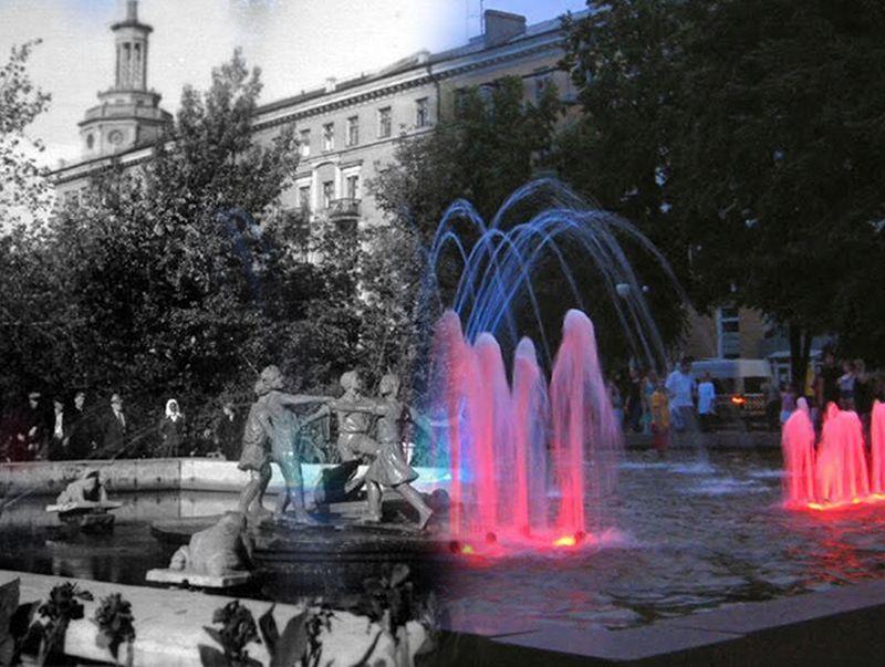 «Воронеж тогда и сейчас»: где в городе играет светомузыка на костях мертвых фашистов