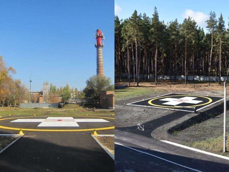 В Воронежской области две районные больницы получили вертолетные площадки