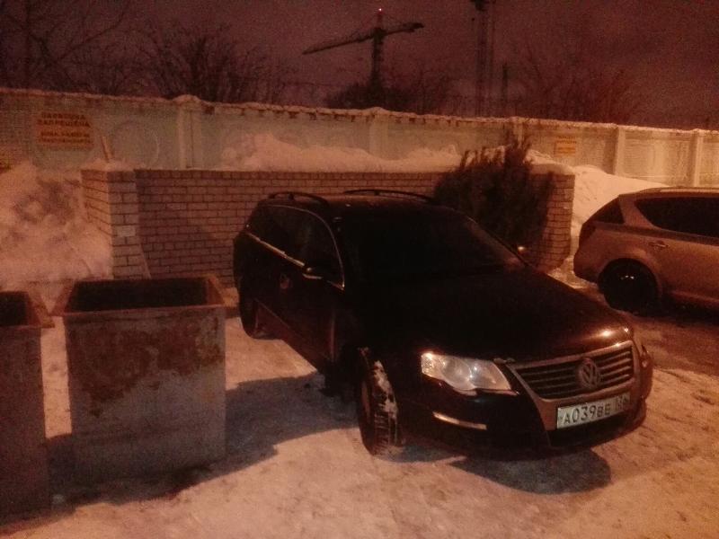 Свежий Volkswagen нашли на помойке в Воронеже