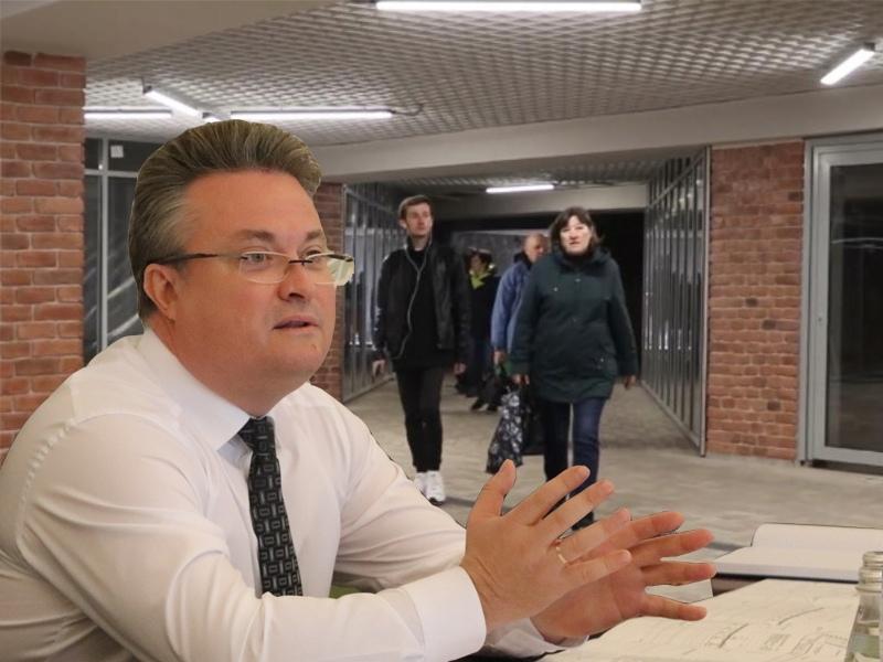 Вадим Кстенин оценил работу концессионера в реконструируемом переходе у цирка