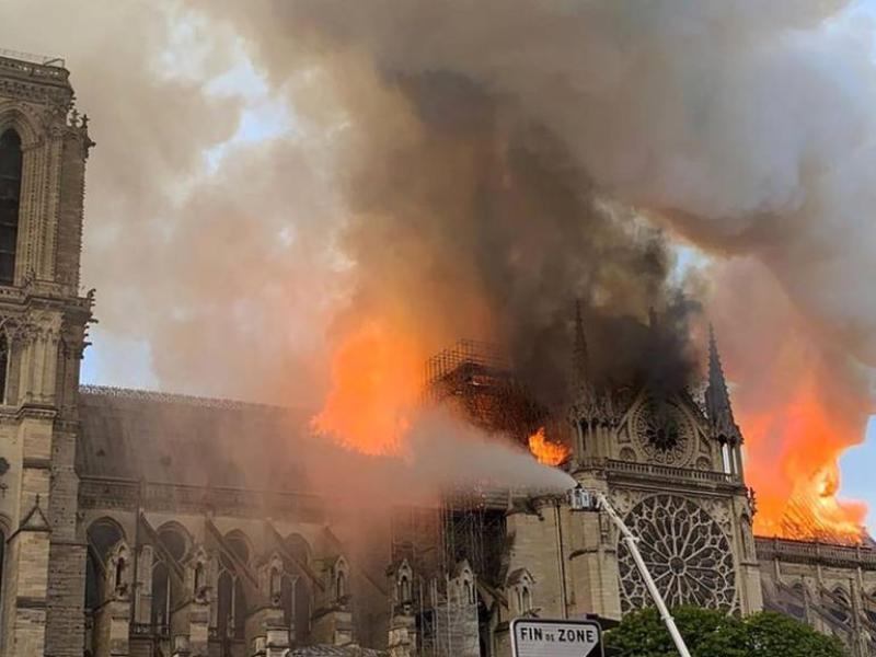 Воронежцам предложили возложить цветы из-за пожара в Соборе Парижской Богоматери