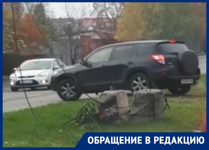 Деструктивный способ избежать пробку сняли в Воронеже