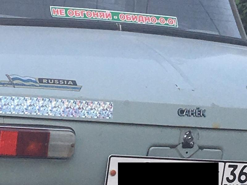 Жалобной надписью на «Москвиче» обратился воронежец к автомобилистам