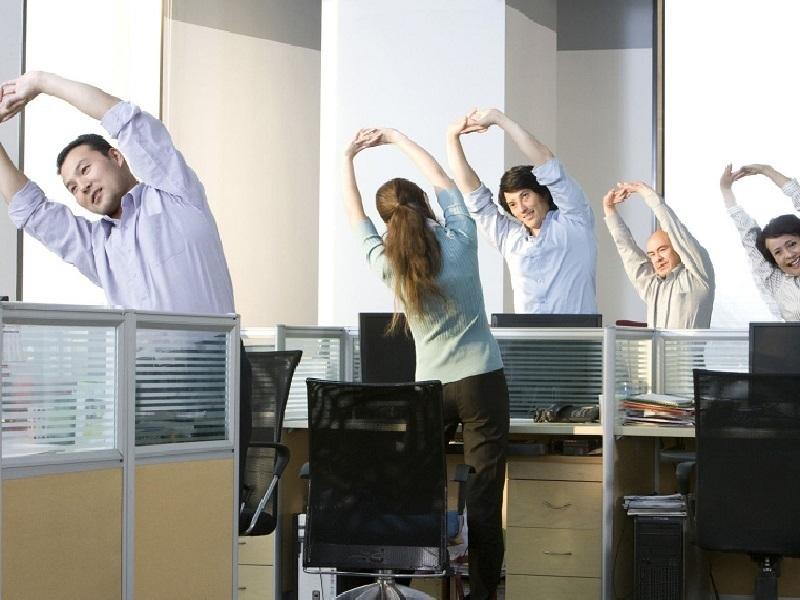 5% воронежцев заставляют делать зарядку на рабочих местах