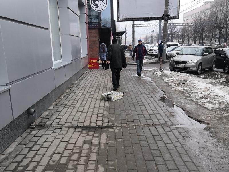 Выгуливающего обогреватель мужчину заметили в Воронеже