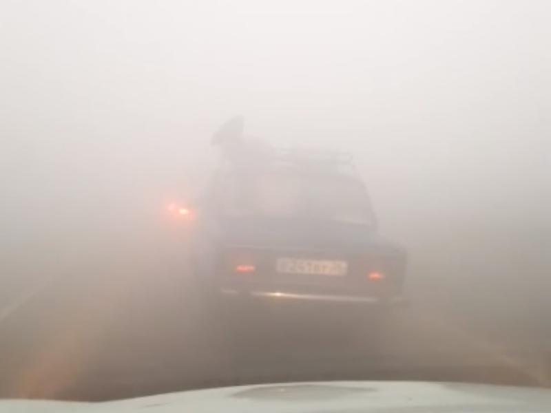 В фильм ужасов с нулевой видимостью попали водители в Воронеже