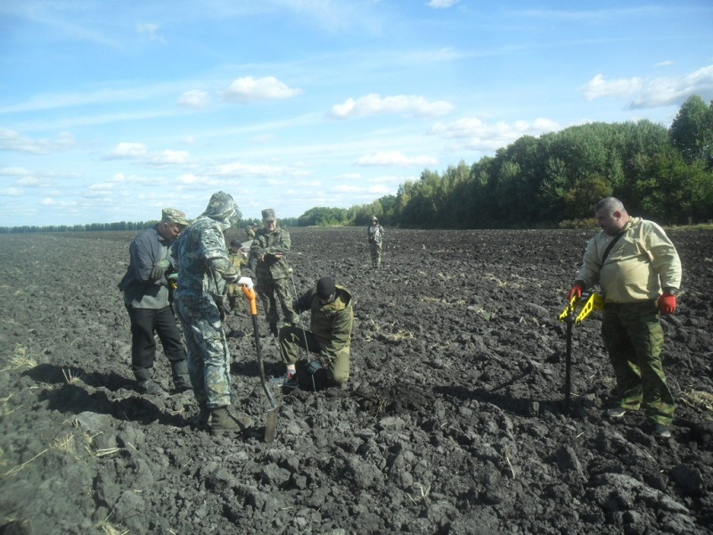 Останки советского солдата обнаружены поисковиками в Воронежской области