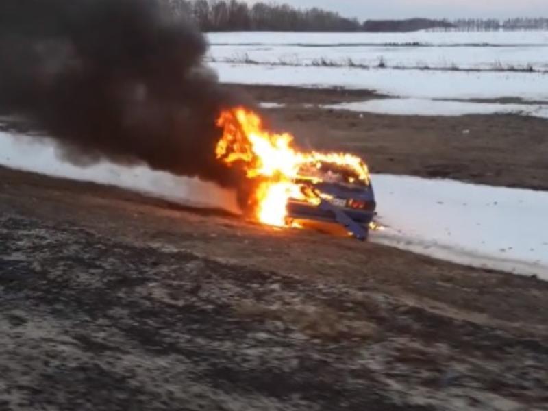 Огненный ад на трассе М-4 «Дон» сняли воронежцы