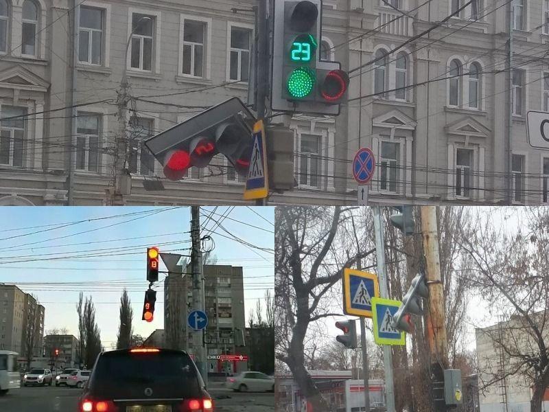 Мэрия обвинила ветер в массовом падении светофоров в Воронеже