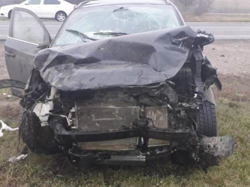 Момент смертельного столкновения  Datsun и Hyundai сняли на воронежской трассе