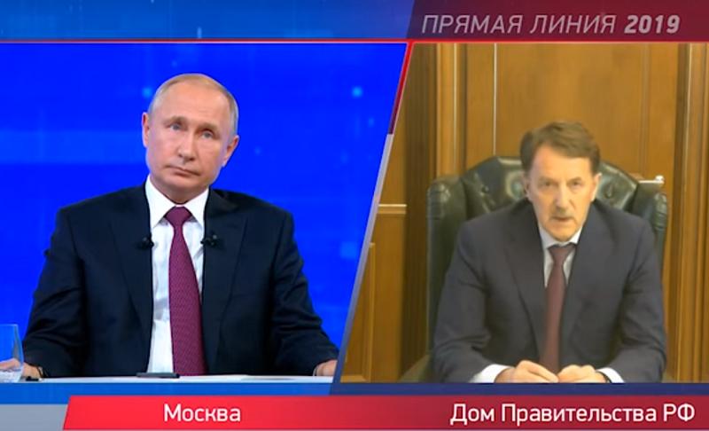 Алексей Гордеев затянул спасение белух и косаток до прямой линии с Владимиром Путиным