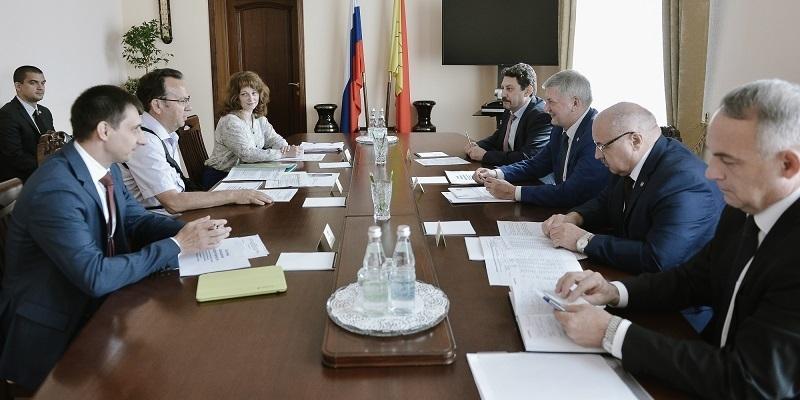Владимир Салмин обсудил с воронежским правительством новые направления сотрудничества