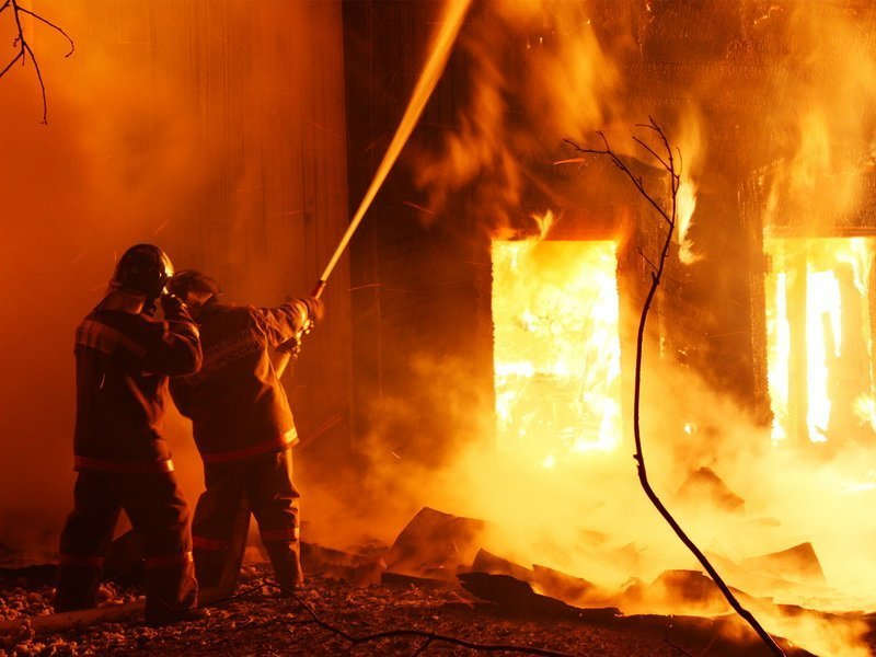 68 пожарных тушили Воронежский тепловозоремонтный  завод