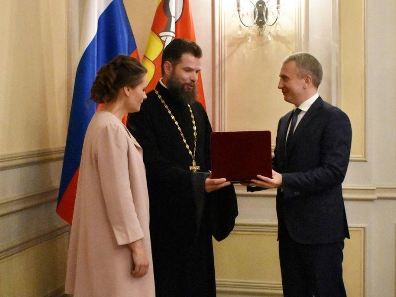 В правительстве дали орден воронежскому многодетному священнику