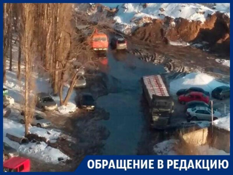 Дорога к ЖК превратилась в ад для автомобилистов Воронежа