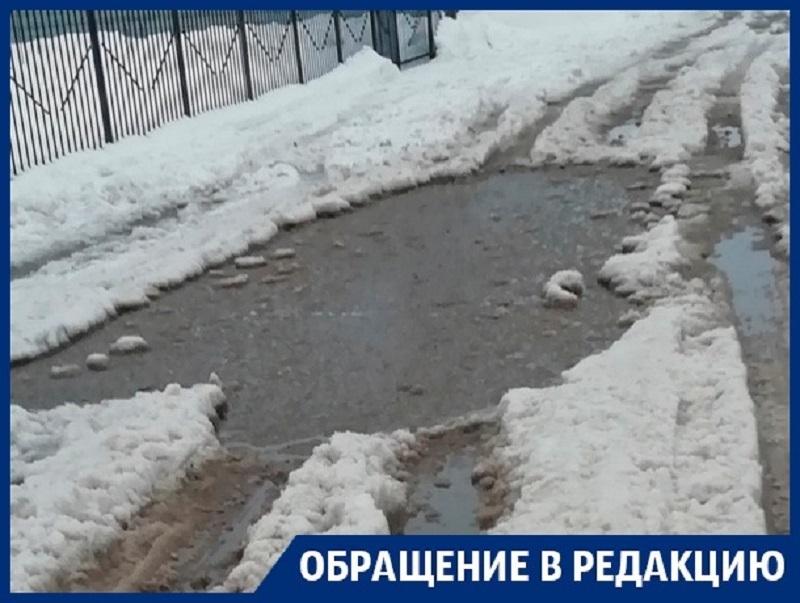 Утопающих на улицах воронежцев чиновники послали к мэру