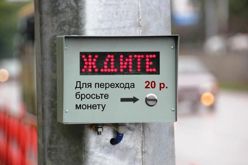 В Воронеже издевательски предложили ввести систему платных пешеходных переходов