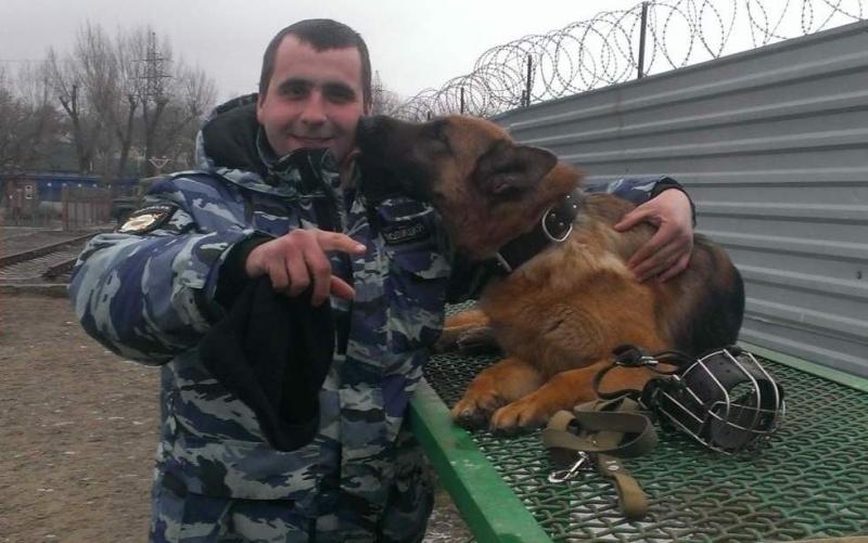 ВВоронежской области служебная собачка Коша унюхала преступника закилометр