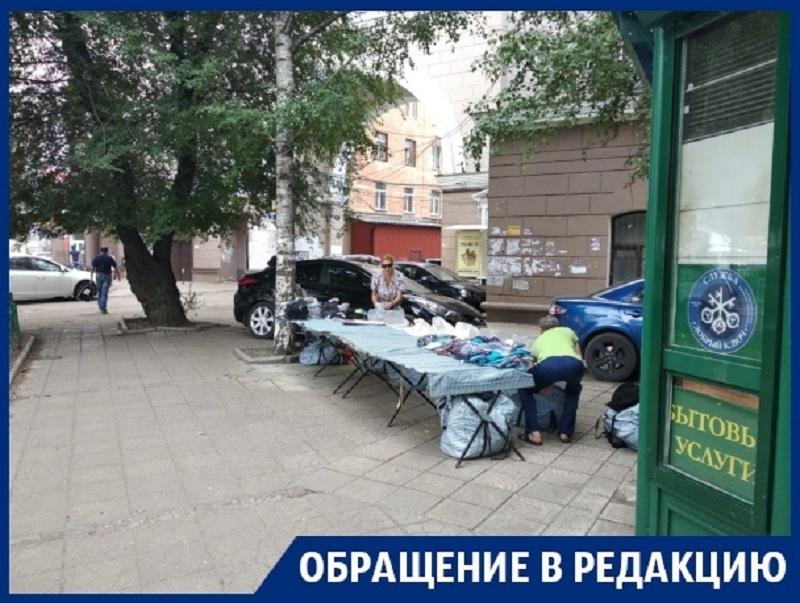 Стихийный рынок с трусами развернулся в центре Воронежа
