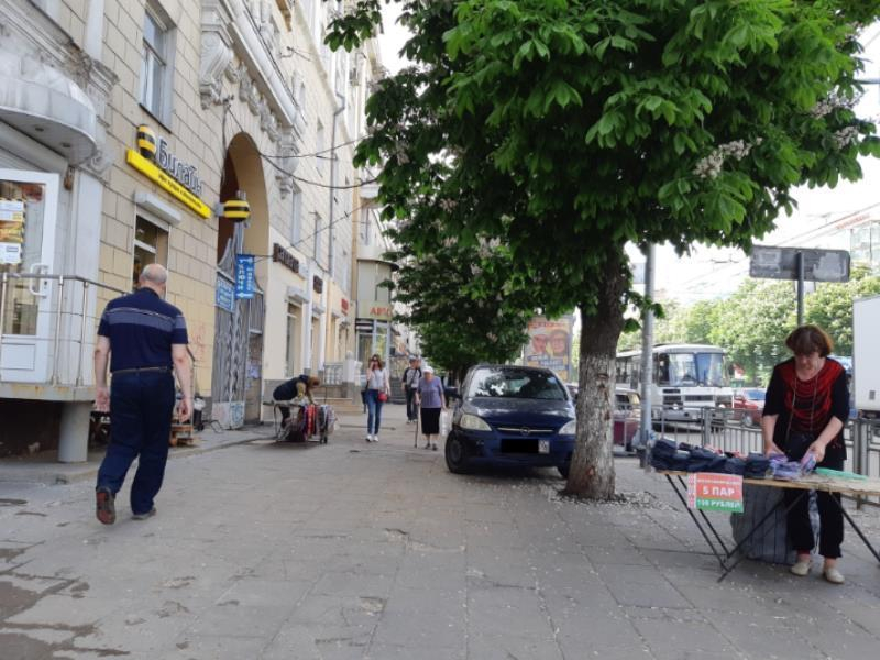 На оккупацию центра торгашами пожаловался воронежец