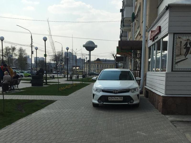 Сквер ученых превратили в бесплатную парковку в Воронеже