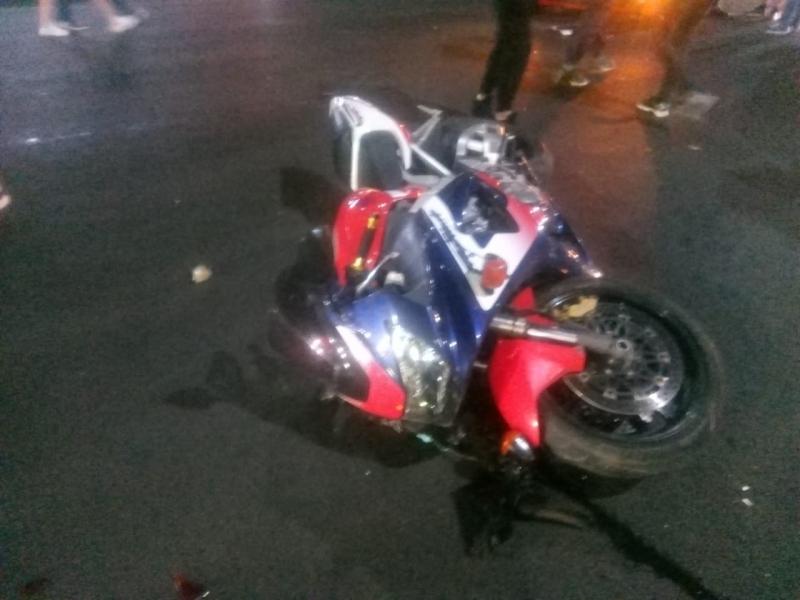 Полиция показала, что осталось от байка после ДТП в центре Воронежа