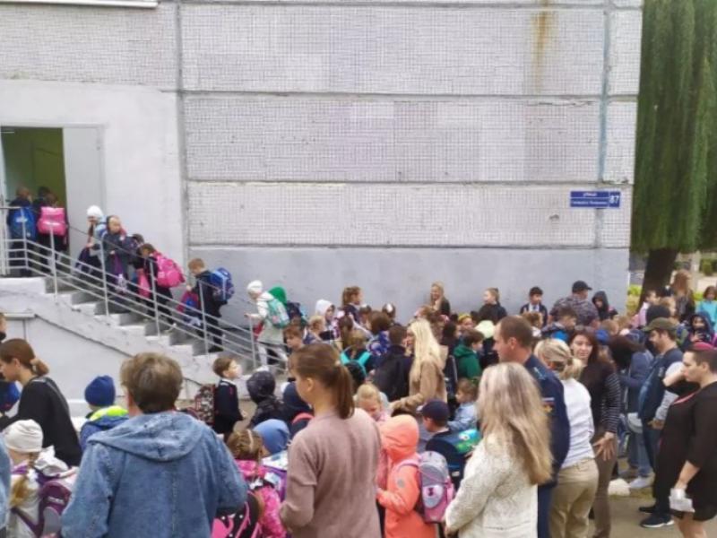 Массовый саботаж социальной дистанции у закрытых дверей школы объяснили в мэрии Воронежа