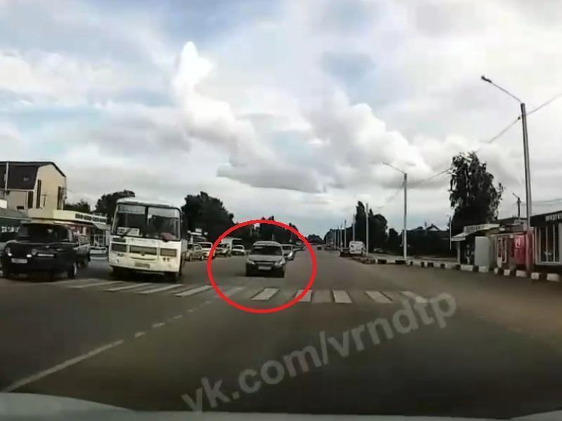 Уход от жесткого лобового сняли от 1-го лица в Воронеже