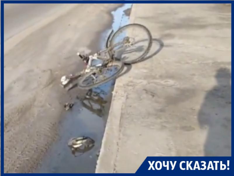 Велосипедист сломал кости на неубранной дороге в Воронеже