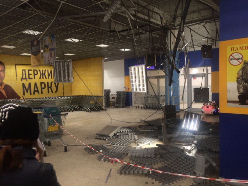 Граждане Воронежа проинформировали обобрушении потолка вгипермаркете «Лента»