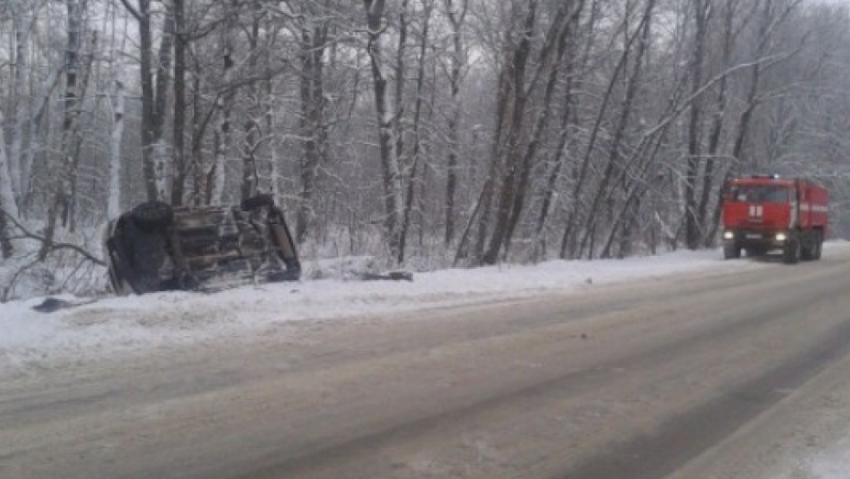 ВВоронежской области врезультате дорожного происшествия сперевернувшимся авто пострадала девушка
