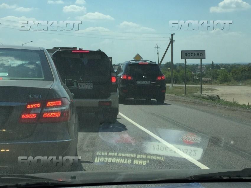 Пробка длиною 12 км образовалась на М4 «Дон» в Воронежской области