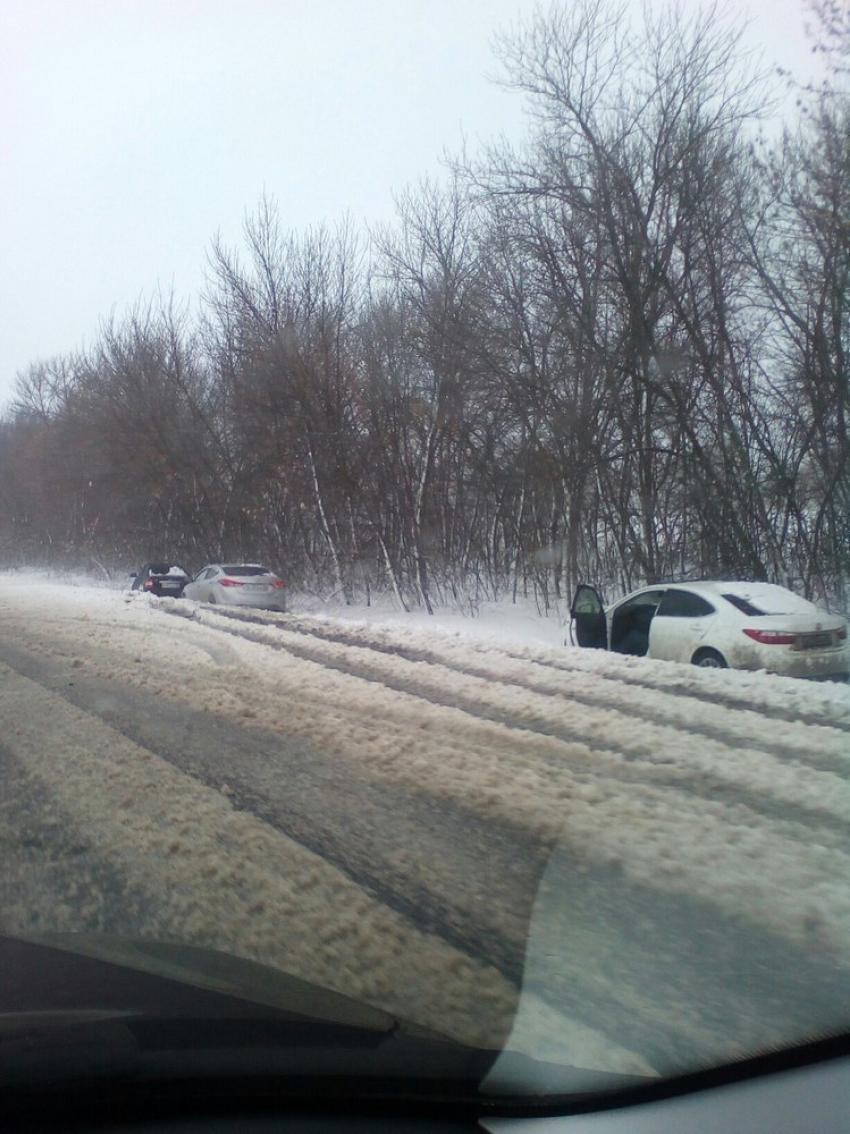 М4 Дон Воронеж снегопад