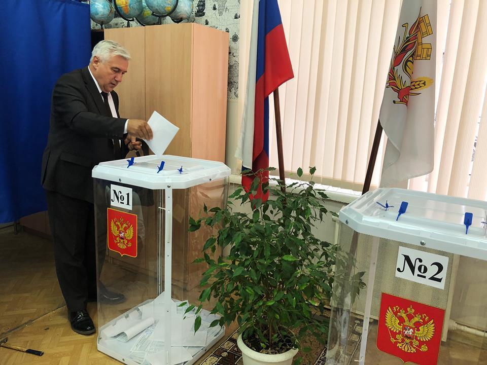 Лидер воронежской «Родины» проголосовал на выборах 9 сентября