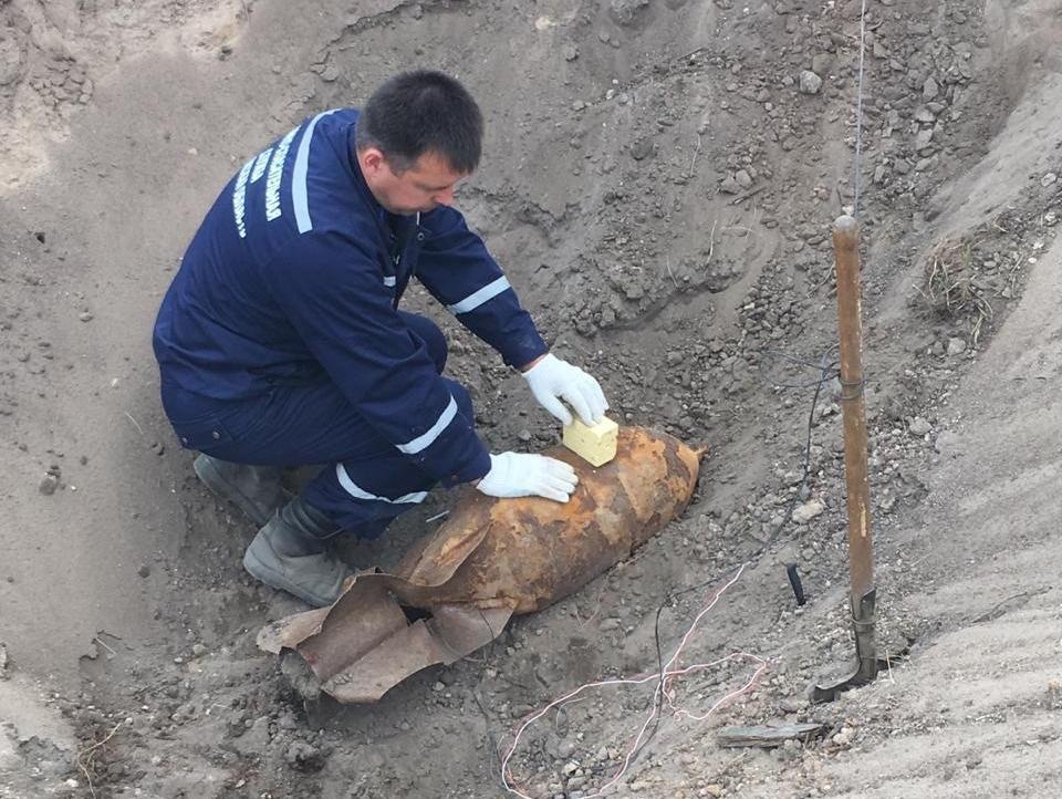 Опубликовано фото 100-килограммовой бомбы, найденной в Воронеже
