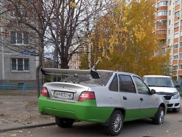 Украинский тюнинг в Воронеже удивил водителей своей дерзостью