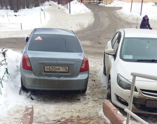 Воронежцы рассердились на татарского хама, перегородившего съезд для колясок