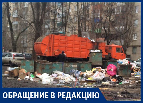 Мусорка воняет, разлагается, гниет, – жительница Воронежа о свалке во дворе