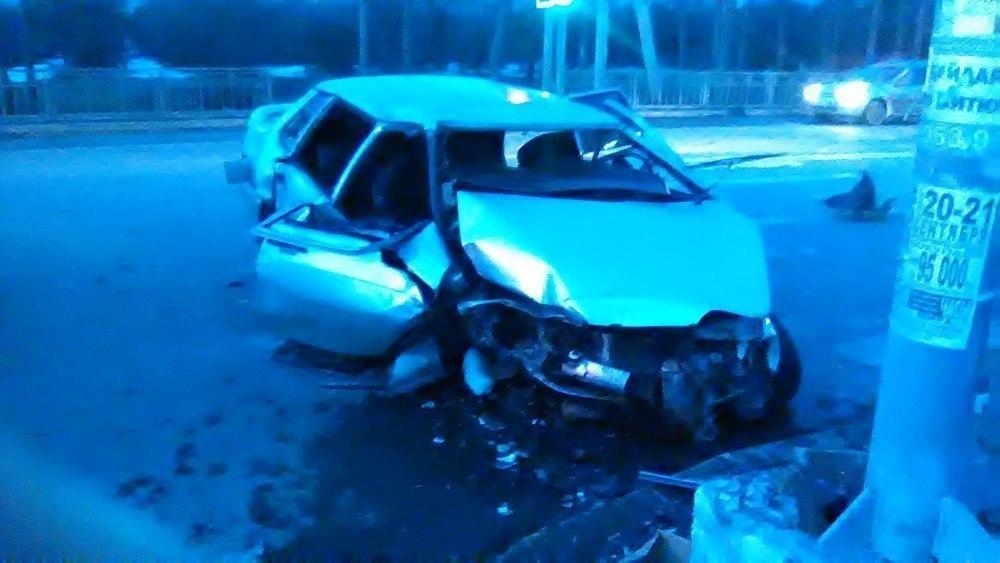 Момент столкновения 2-х авто вВоронеже попал навидео