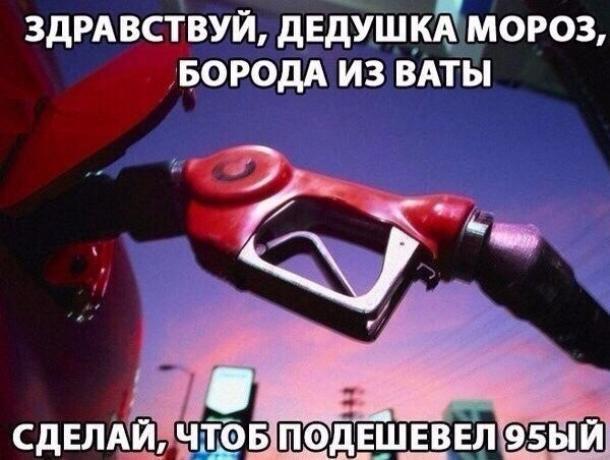 Воронежцы просят Дедушку Мороза, «чтоб подешевел 95-й»