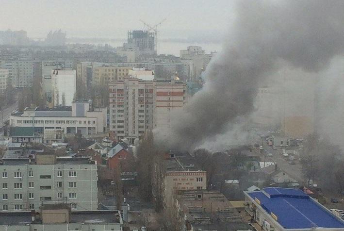 В страшном пожаре в Воронеже погибли два человека