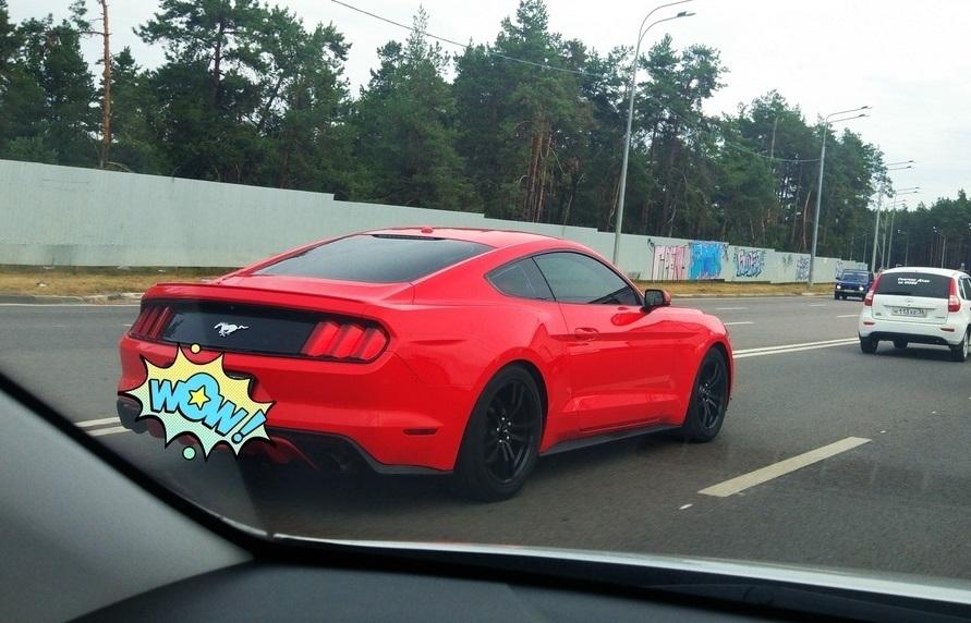 Стремительный Mustang заставил загрустить жителей Воронежа
