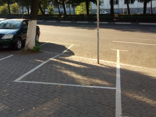 Курьезную разметку платной парковки высмеяли в Воронеже