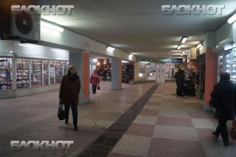 В подземном переходе около Воронежского цирка соорудят «Старый город»